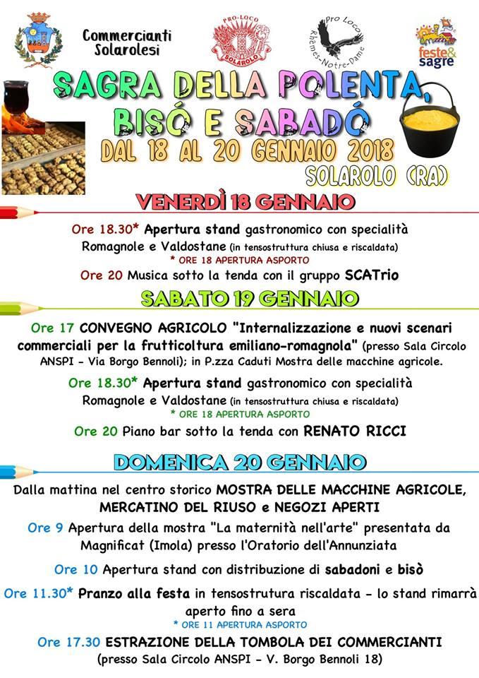 programma festa della polenta 2019