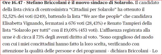 nuovo sindaco Solarolo