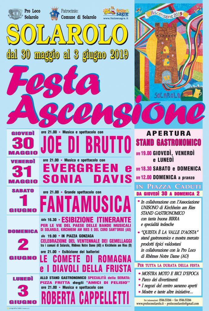 programma festa ascensione 2019
